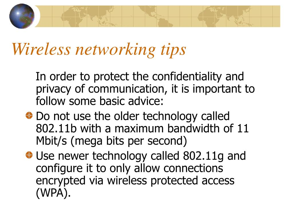 Wireless networking tips