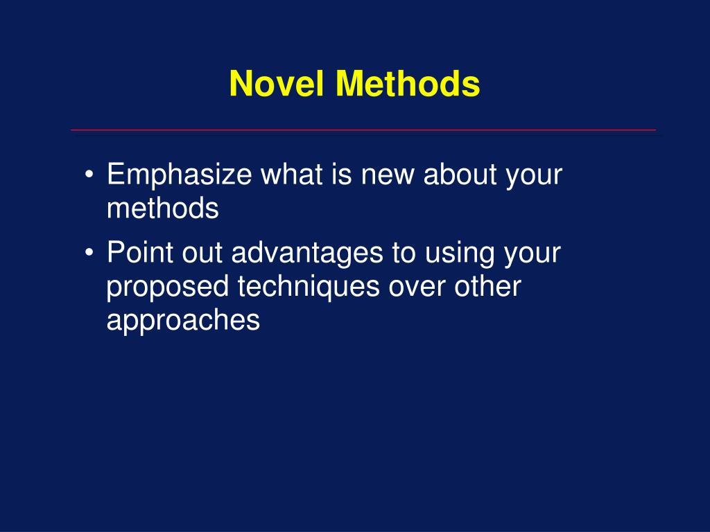 Novel Methods