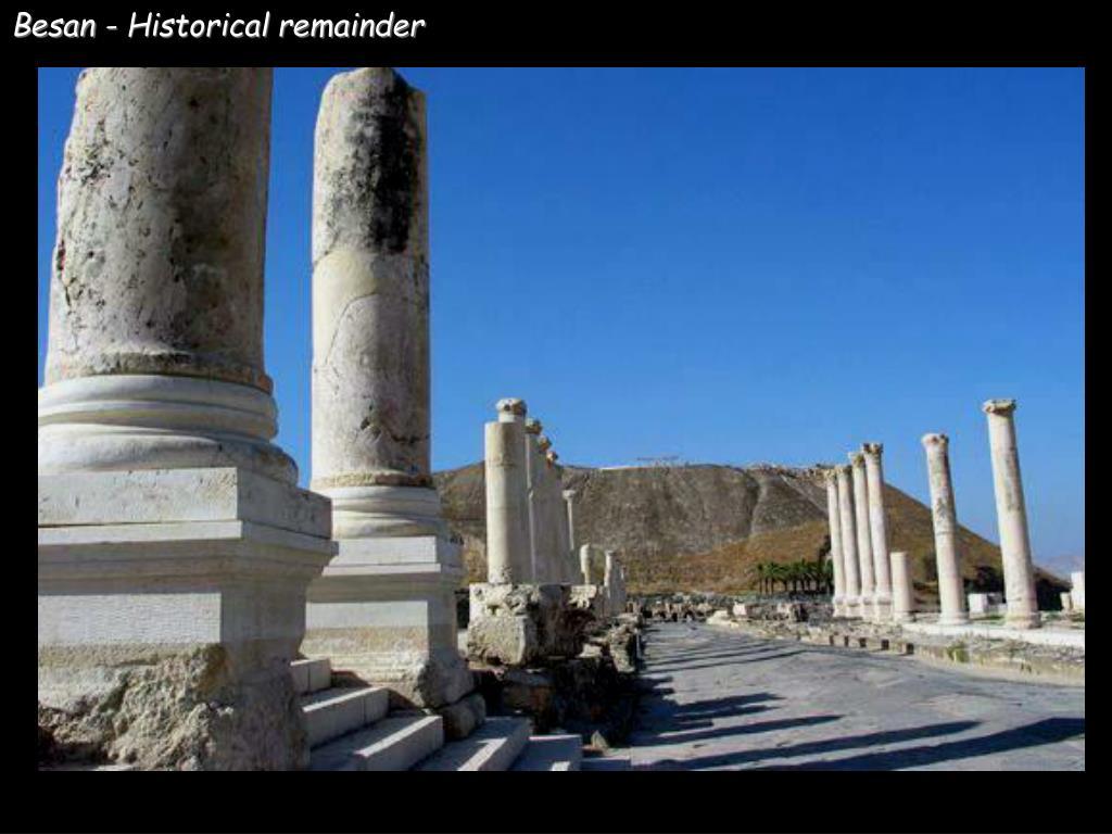 Besan - Historical remainder