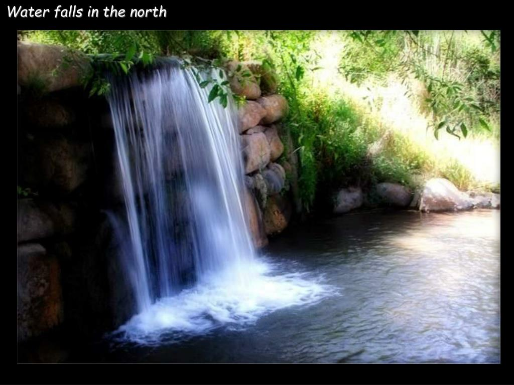 Water falls in the north