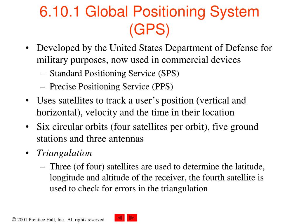 6.10.1 Global Positioning System (GPS)