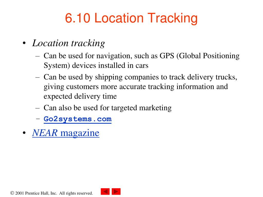 6.10 Location Tracking