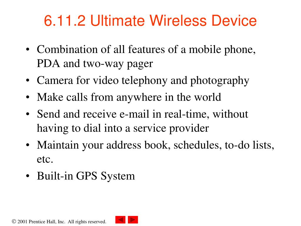 6.11.2 Ultimate Wireless Device