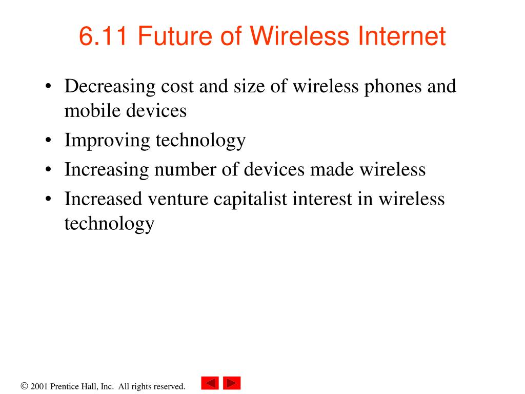 6.11 Future of Wireless Internet