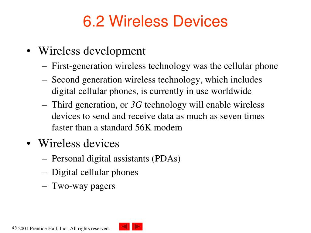 6.2 Wireless Devices