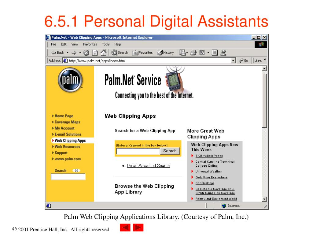 6.5.1 Personal Digital Assistants