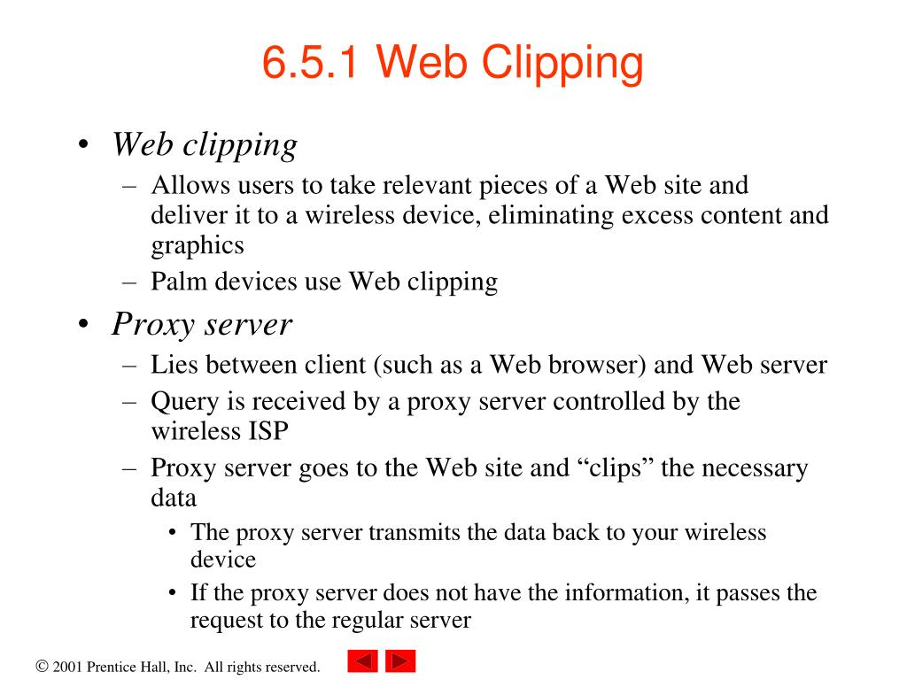 6.5.1 Web Clipping