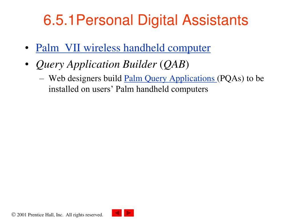 6.5.1Personal Digital Assistants