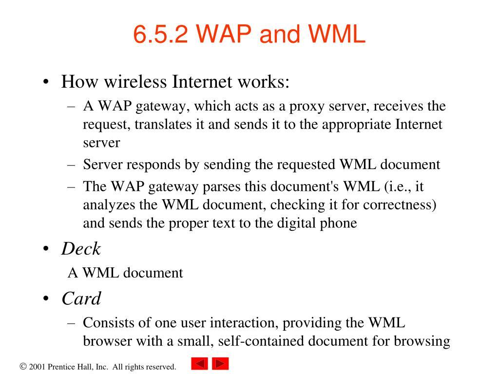 6.5.2 WAP and WML
