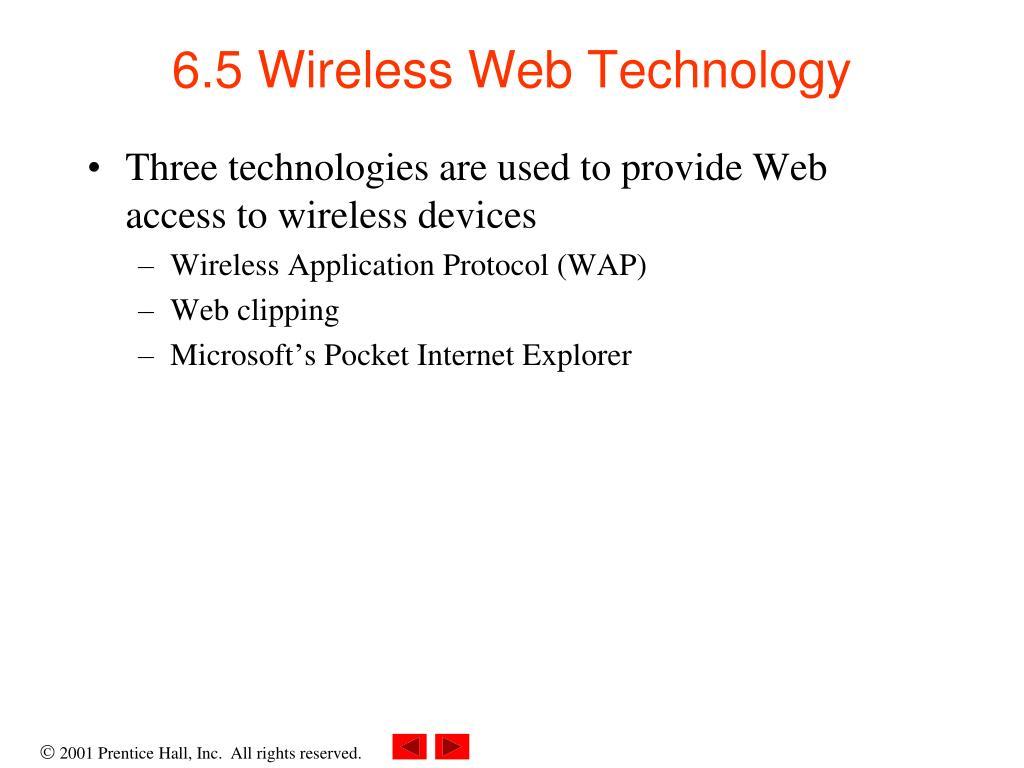 6.5 Wireless Web Technology