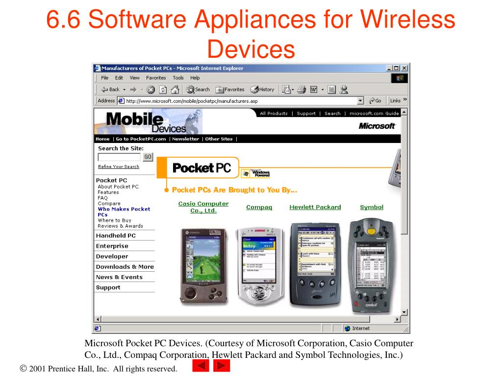 6.6 Software Appliances for Wireless Devices