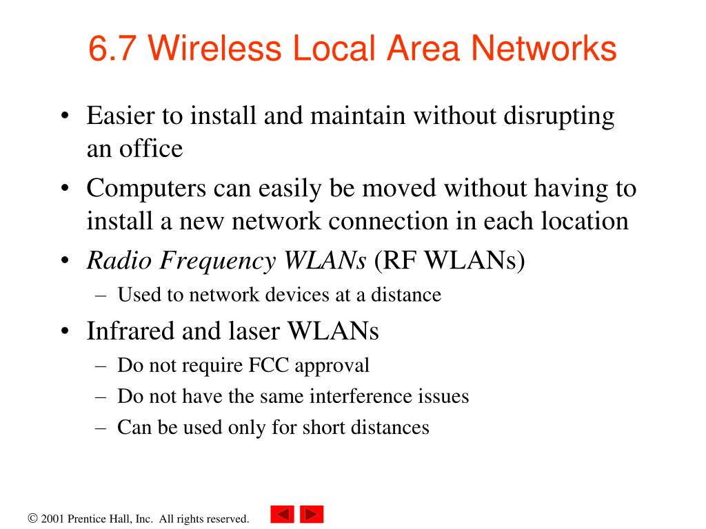 6.7 Wireless Local Area Networks
