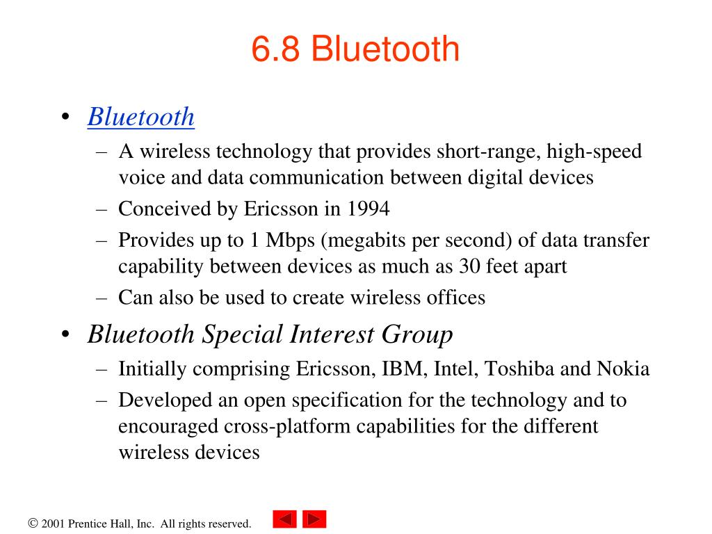 6.8 Bluetooth
