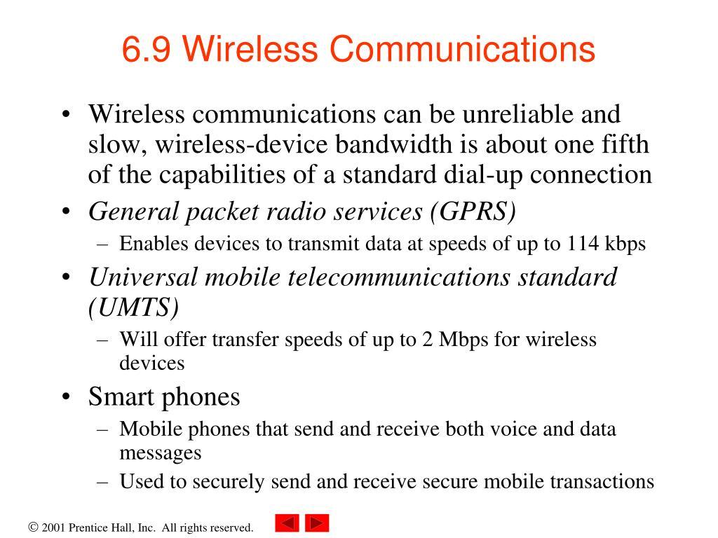6.9 Wireless Communications