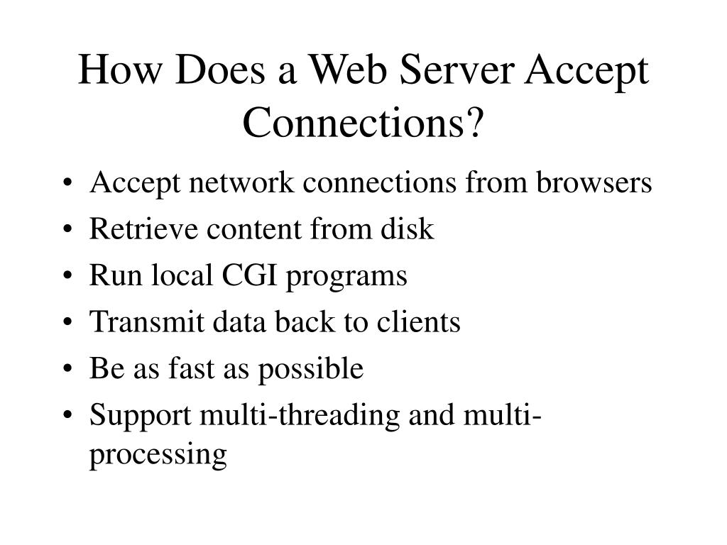 How Does a Web Server Accept Connections?