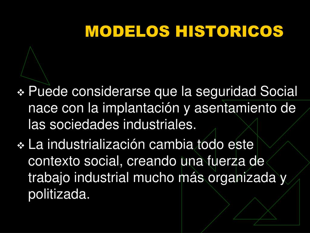 MODELOS HISTORICOS