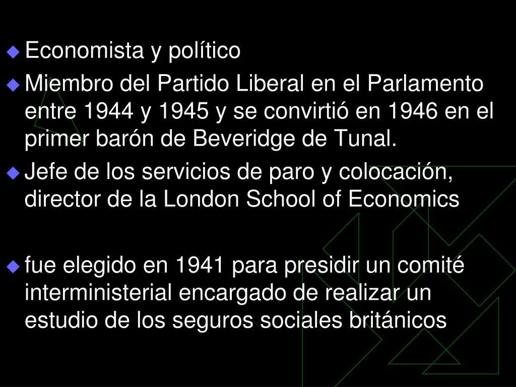 Economista y político