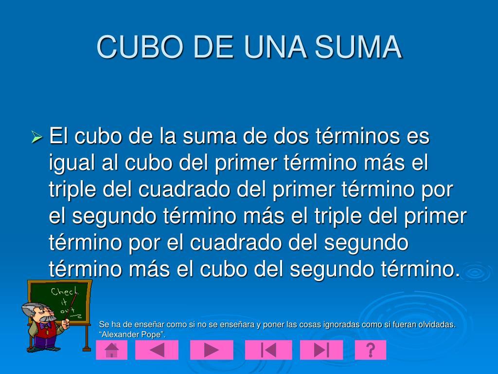 CUBO DE UNA SUMA