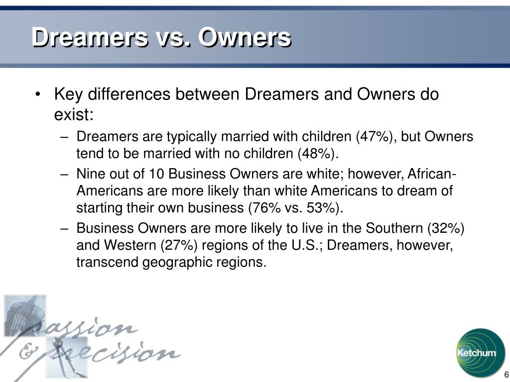 Dreamers vs. Owners