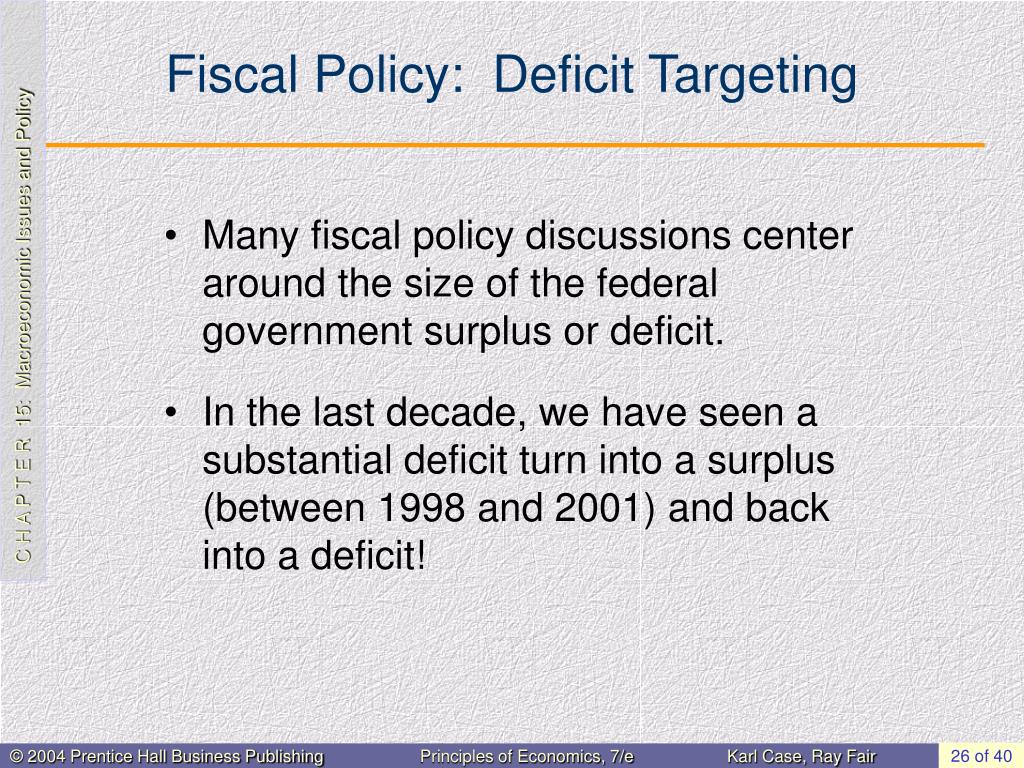 Fiscal Policy:  Deficit Targeting