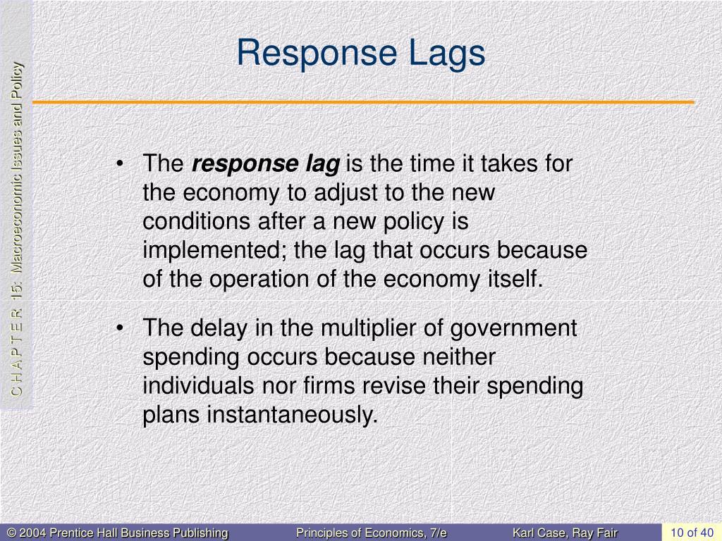 Response Lags