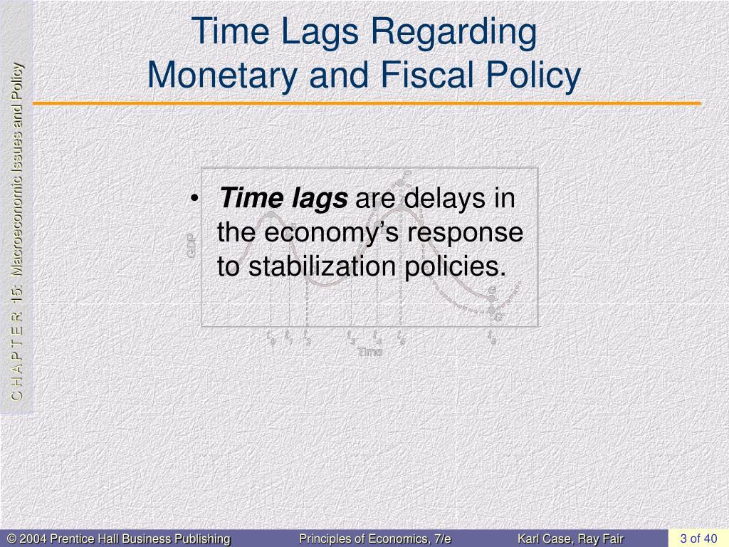 Time Lags Regarding