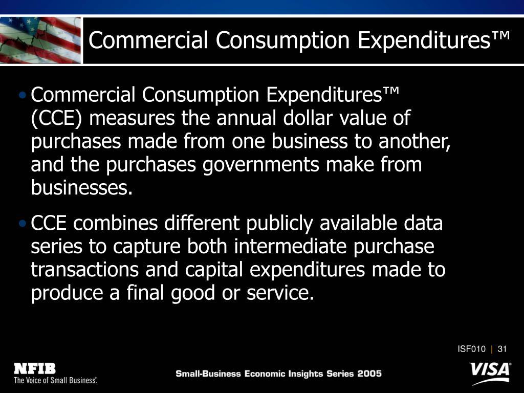 Commercial Consumption Expenditures
