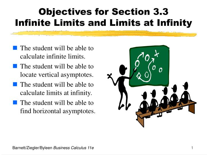 Objectives for section 3 3 infinite limits and limits at infinity