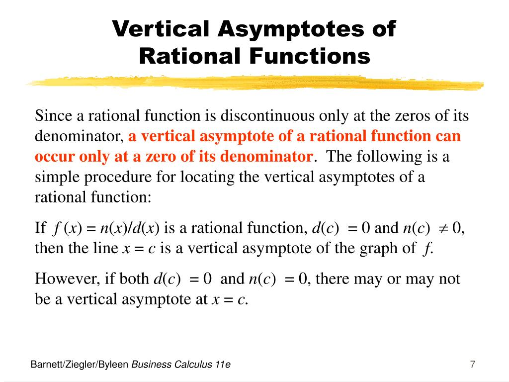 Vertical Asymptotes of