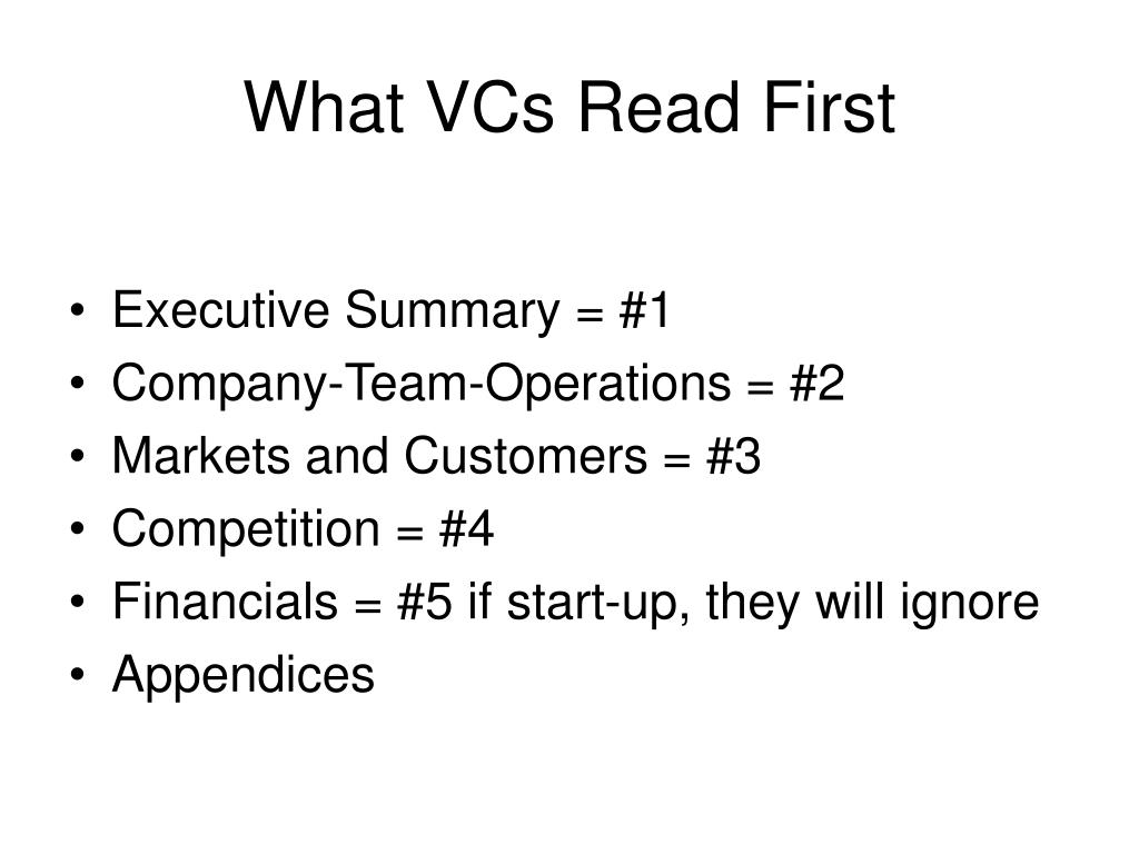 What VCs Read First