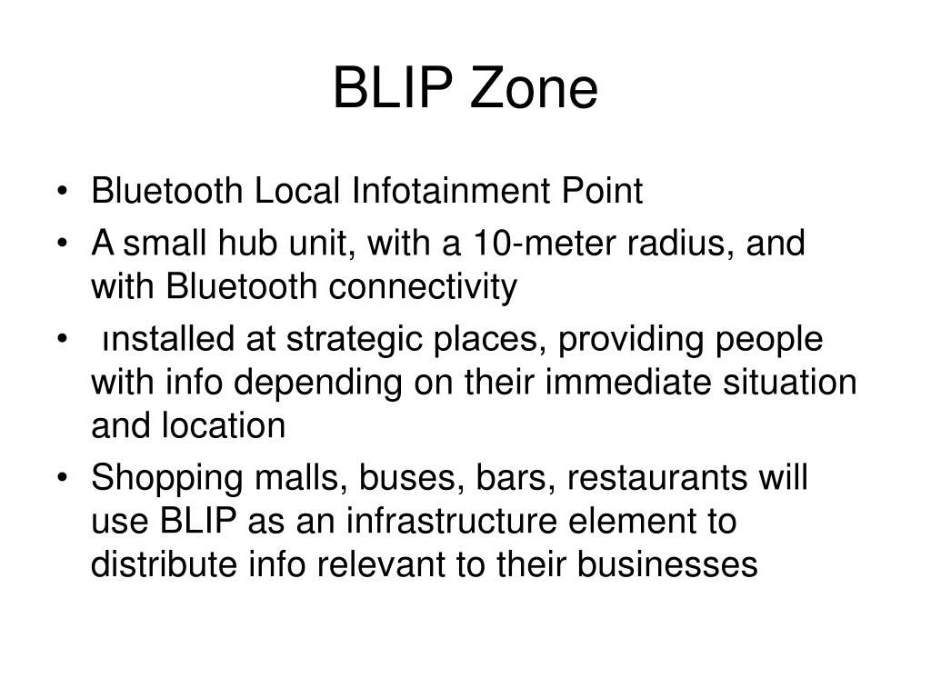 BLIP Zone