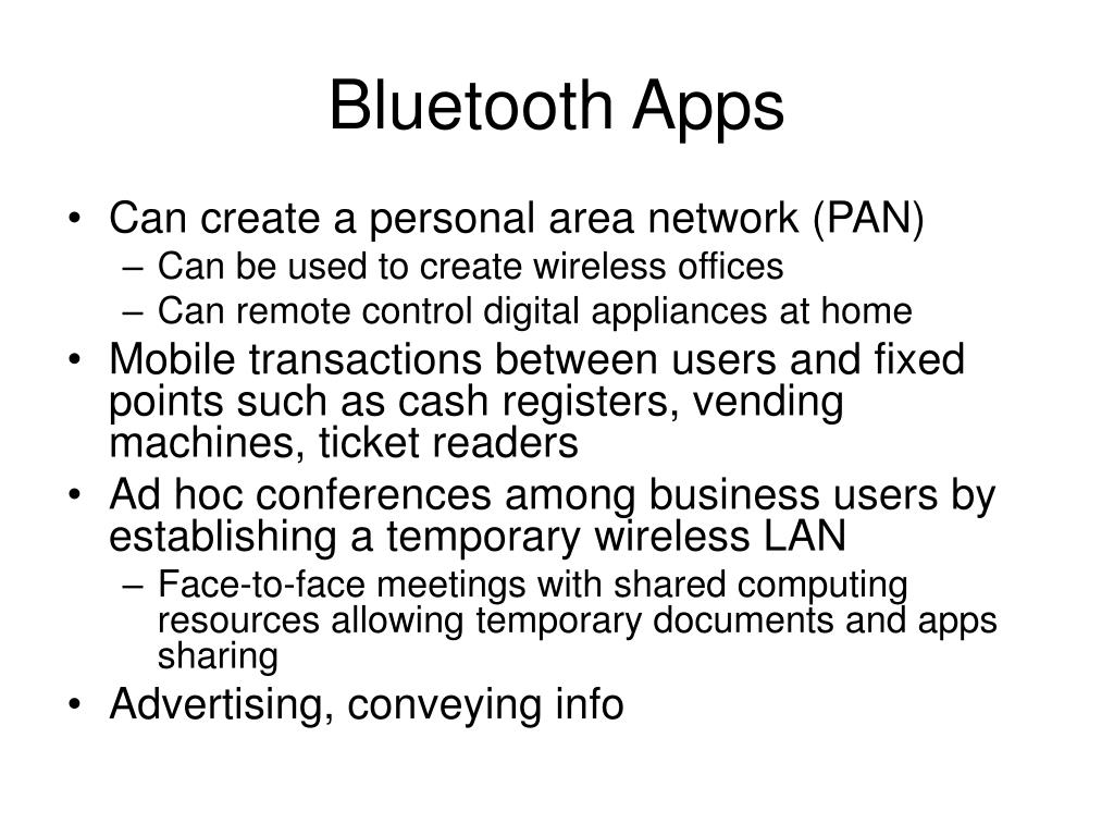 Bluetooth Apps