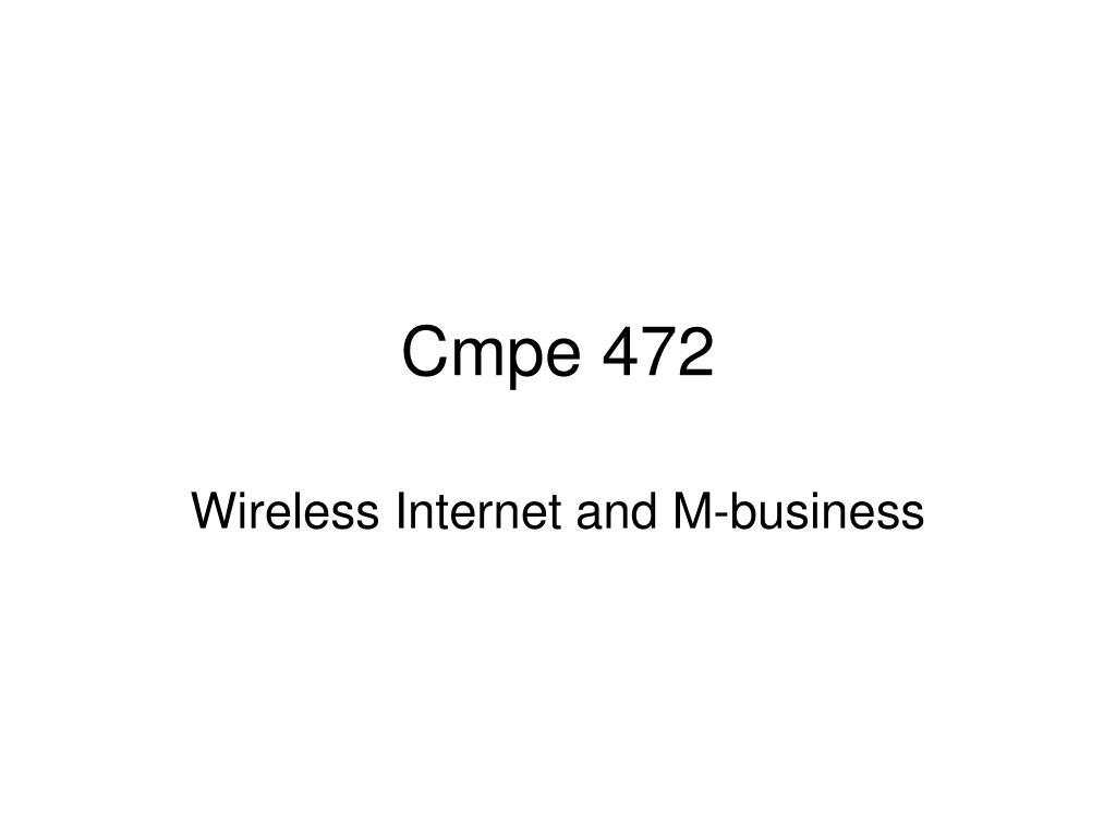 Cmpe 472