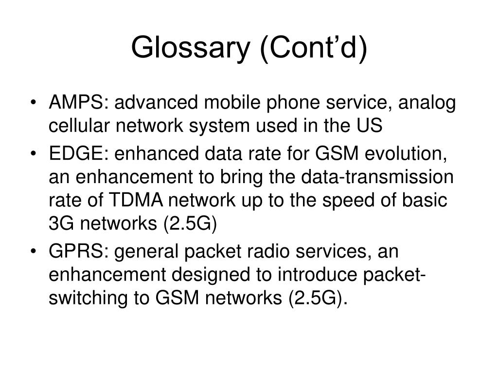 Glossary (Cont'd)