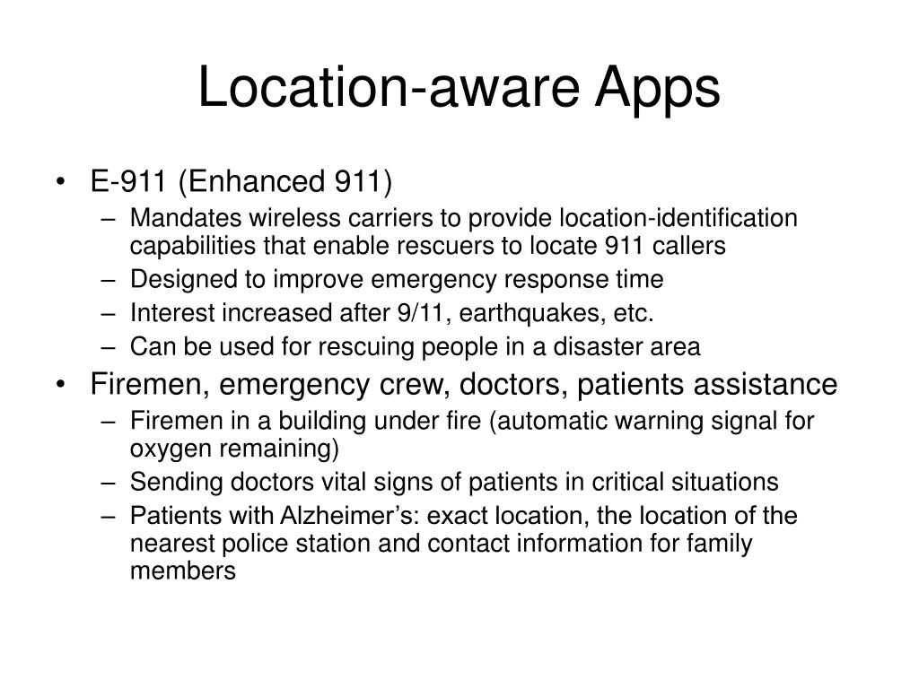 Location-aware Apps