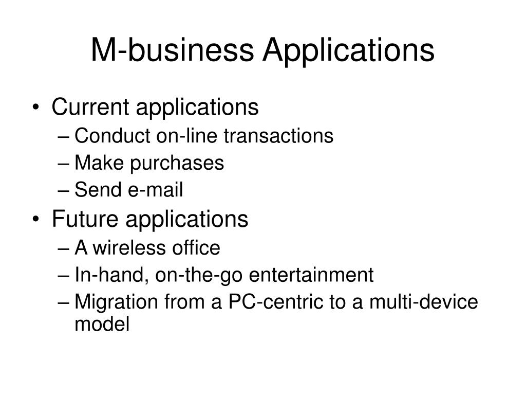 M-business Applications
