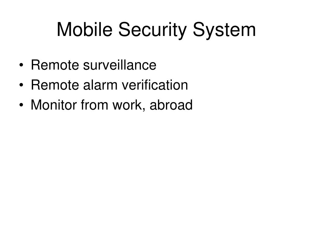 Mobile Security System