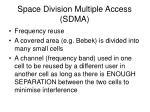 space division multiple access sdma