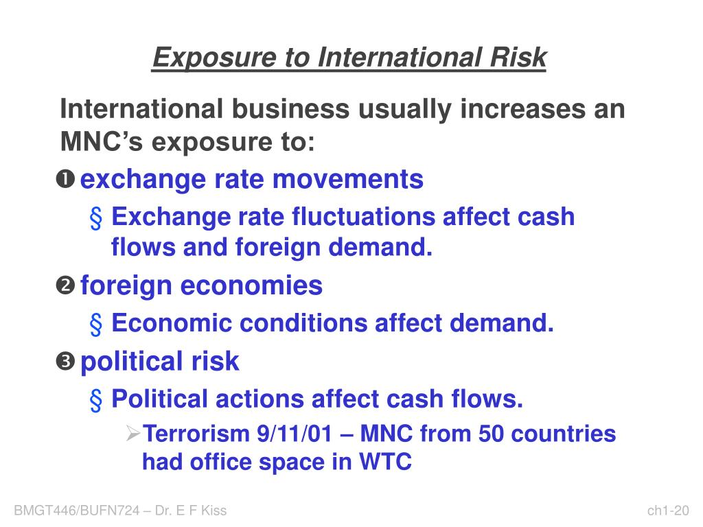 Exposure to International Risk