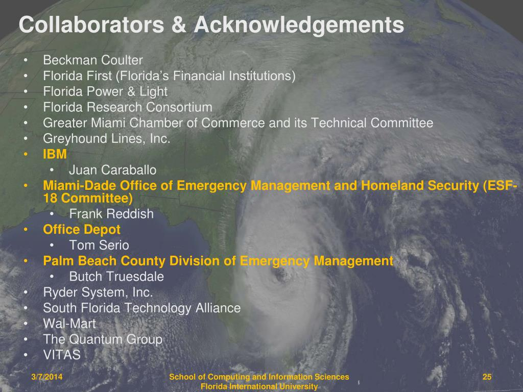 Collaborators & Acknowledgements