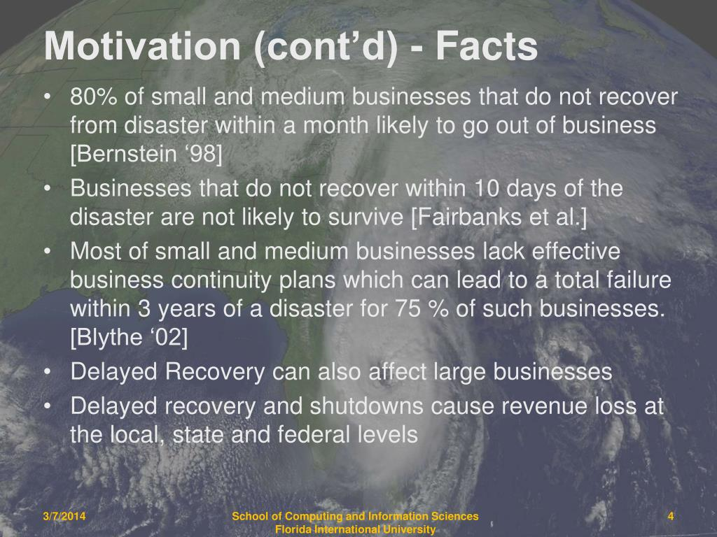 Motivation (cont'd) - Facts