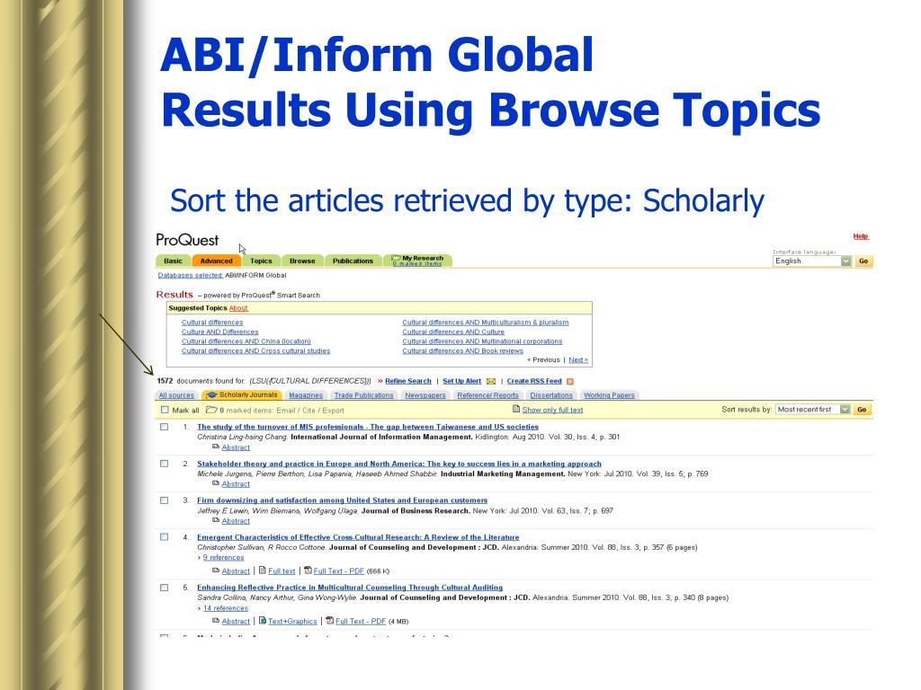 ABI/Inform Global
