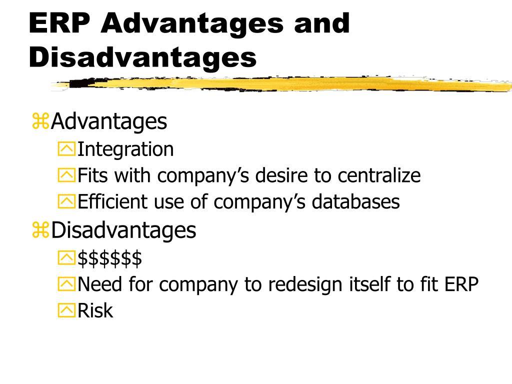 ERP Advantages and Disadvantages