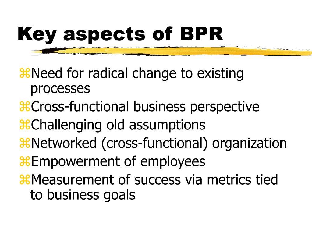 Key aspects of BPR