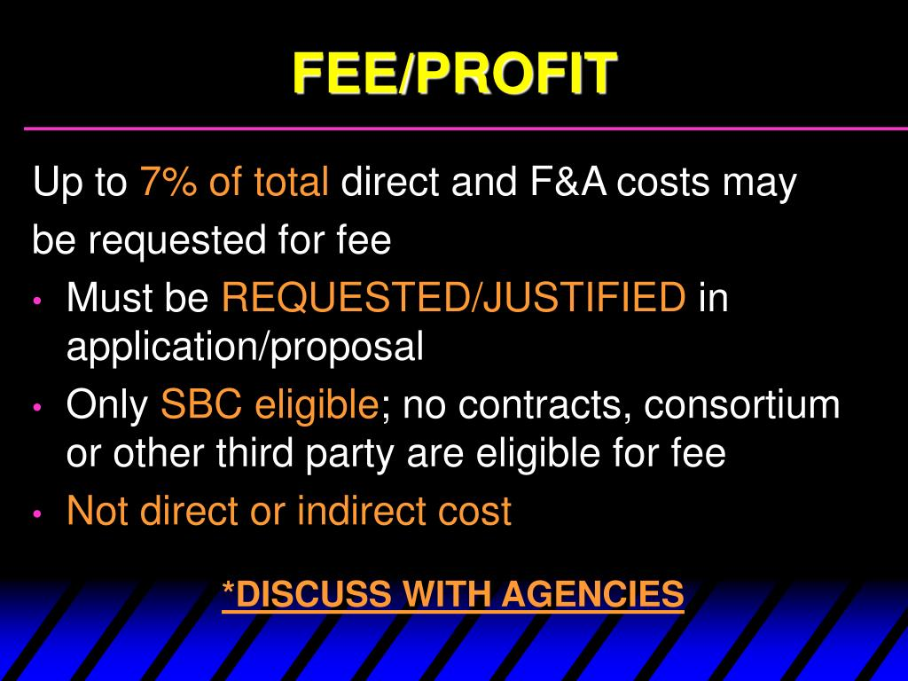 FEE/PROFIT