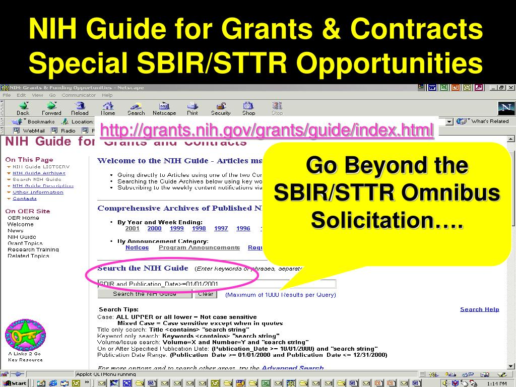 NIH Guide for Grants & Contracts