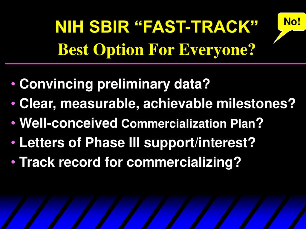 "NIH SBIR ""FAST-TRACK"""