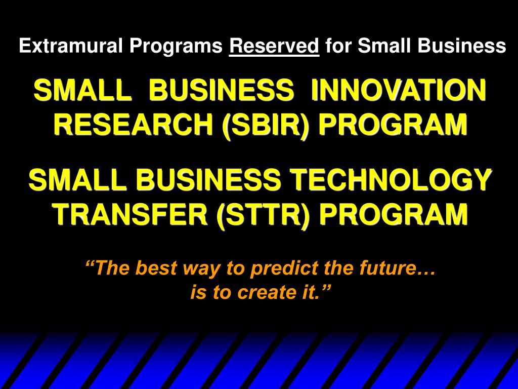 Extramural Programs