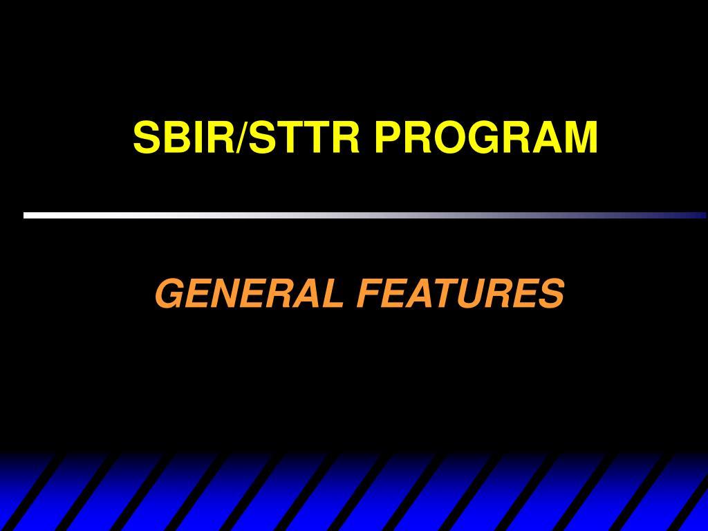 SBIR/STTR PROGRAM