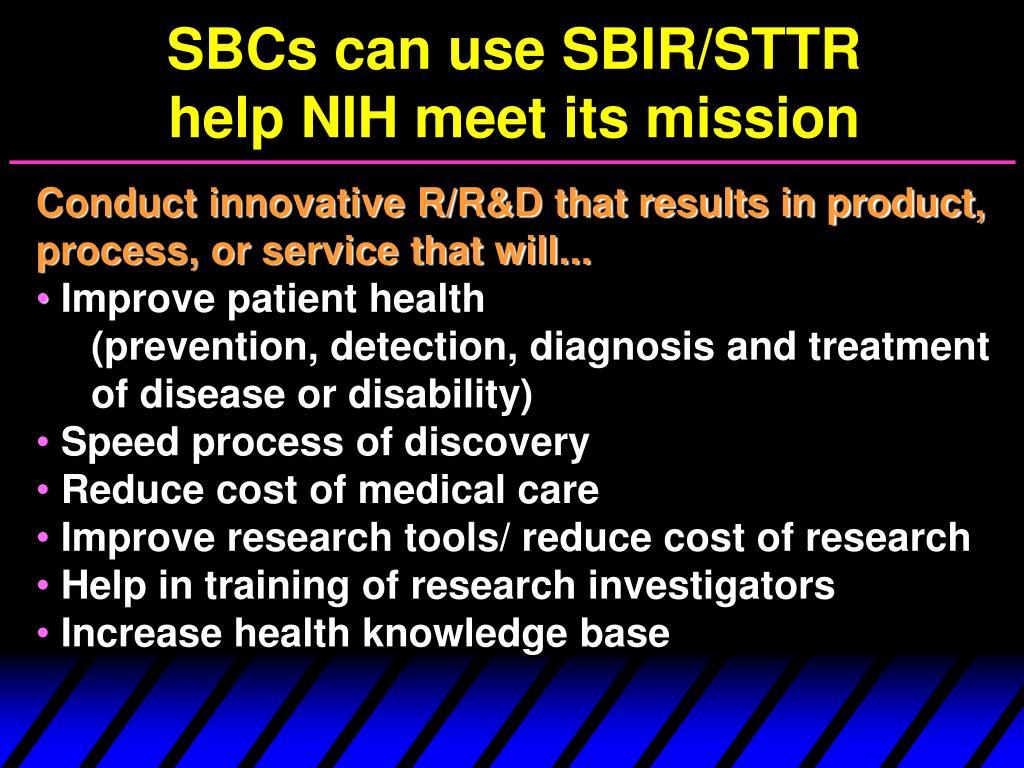SBCs can use SBIR/STTR